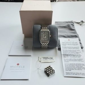 Michele Mother of Pearl Watch with Band